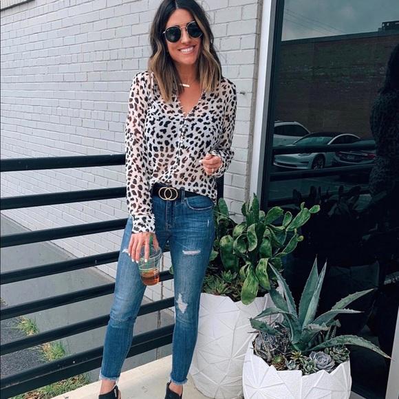 Express Tops - Express portofino slim blouse XS